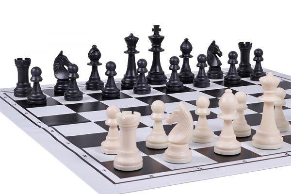 plastic black chessboard