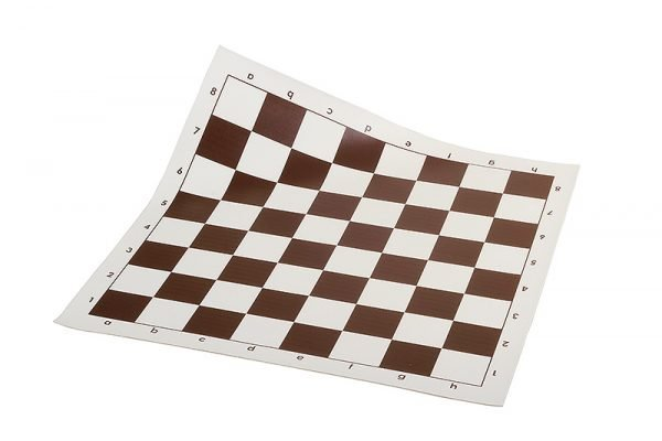 vinyl chess board brown