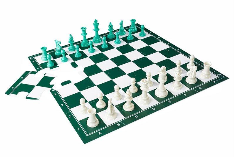 Jigchess Schachspiel Combo Grün 50 cm