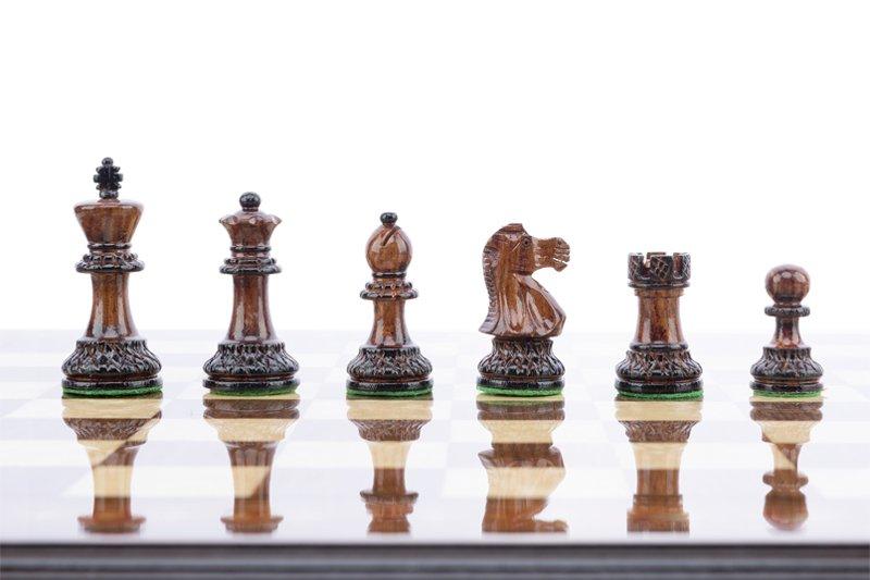 Schachfiguren Royal Burnt 7.5 cm