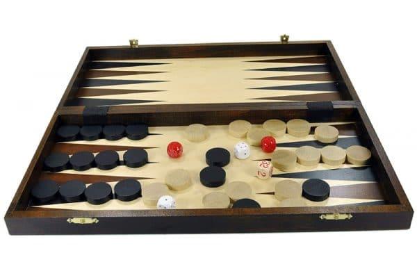 Chess + Backgammon + Draughts set