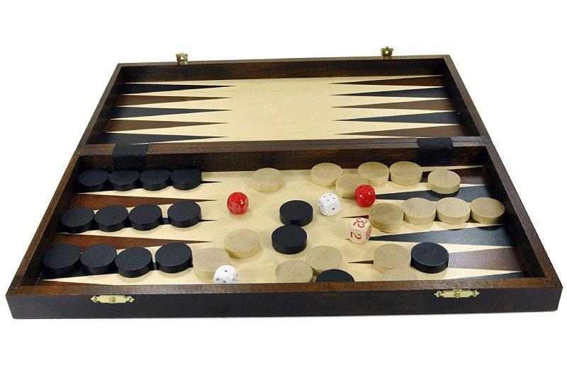 Chess + Backgammon + Draughts set