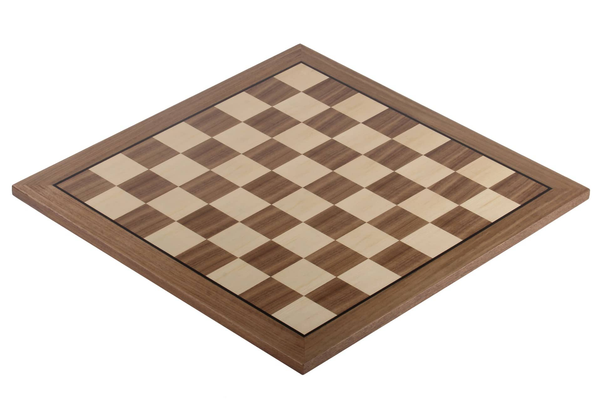 walnut chessboard with black stripe