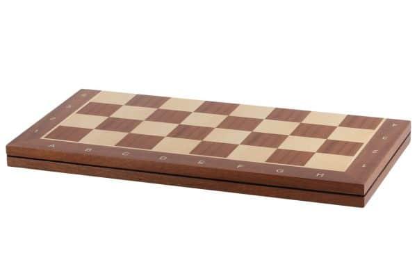 folding sapele chess board