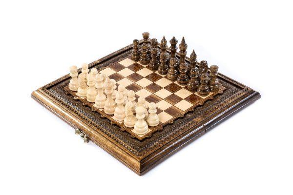 Klassisch Schachspiel Backgammon 30 cm