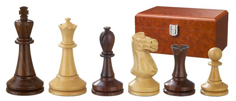 August Schachfiguren