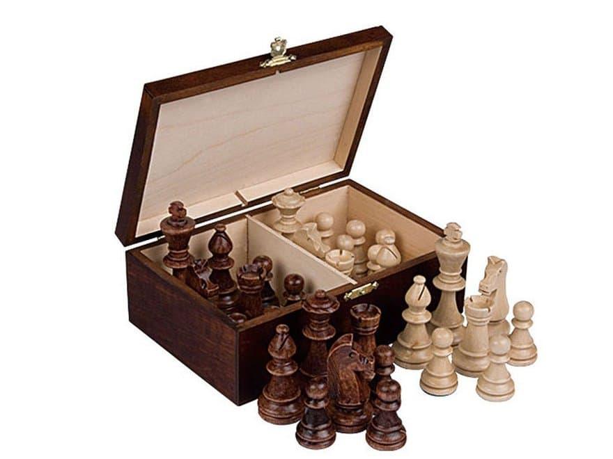 Schachfigurenkoffer aus Holz