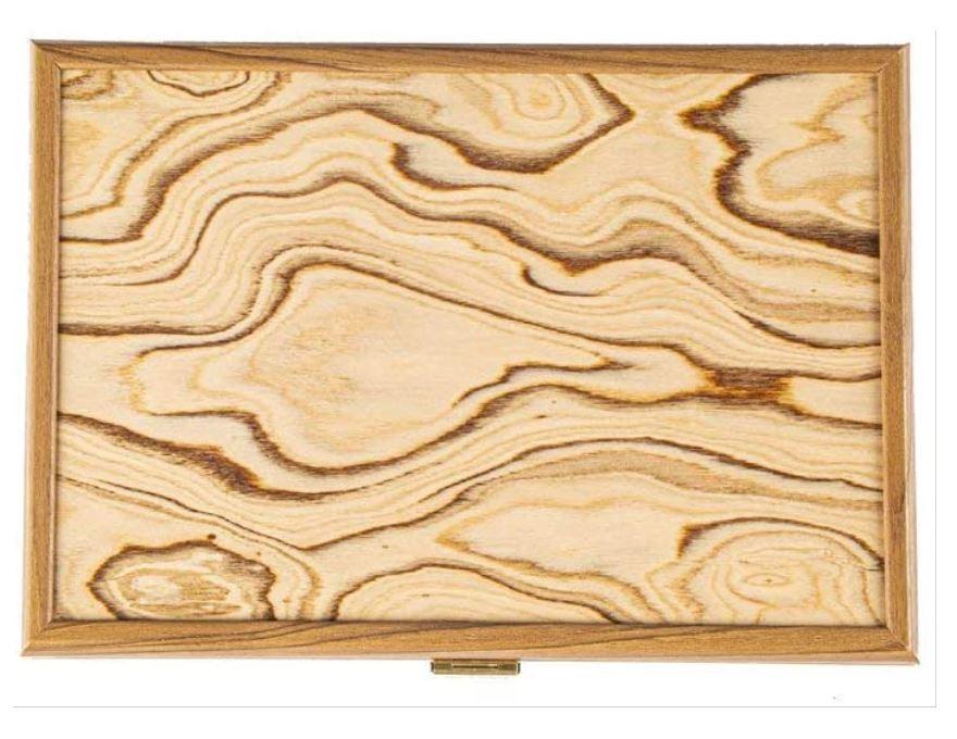 Schachfigurenkoffer Aus Holz OLIVE