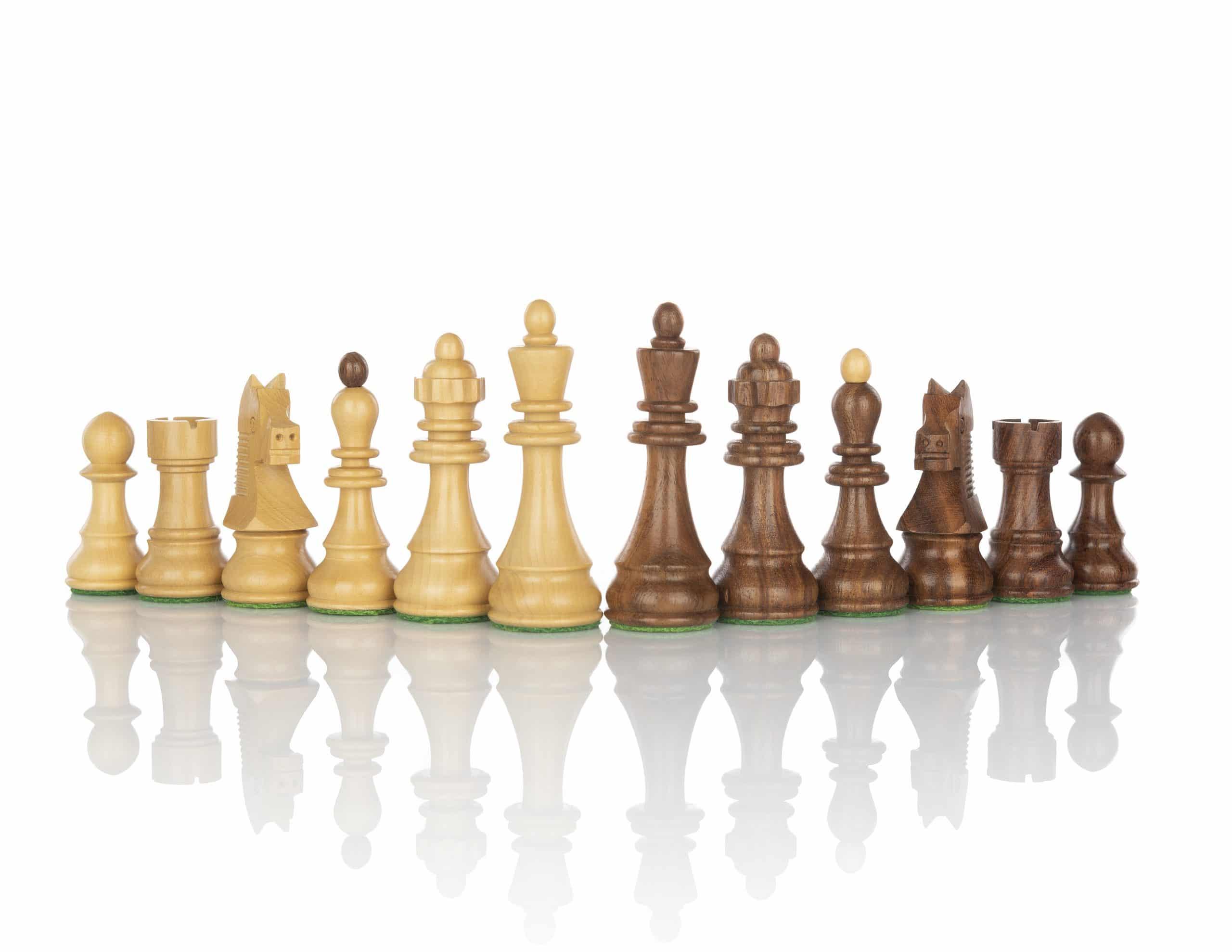 Dubrovnik in Schwarzer Kasten Schachfiguren