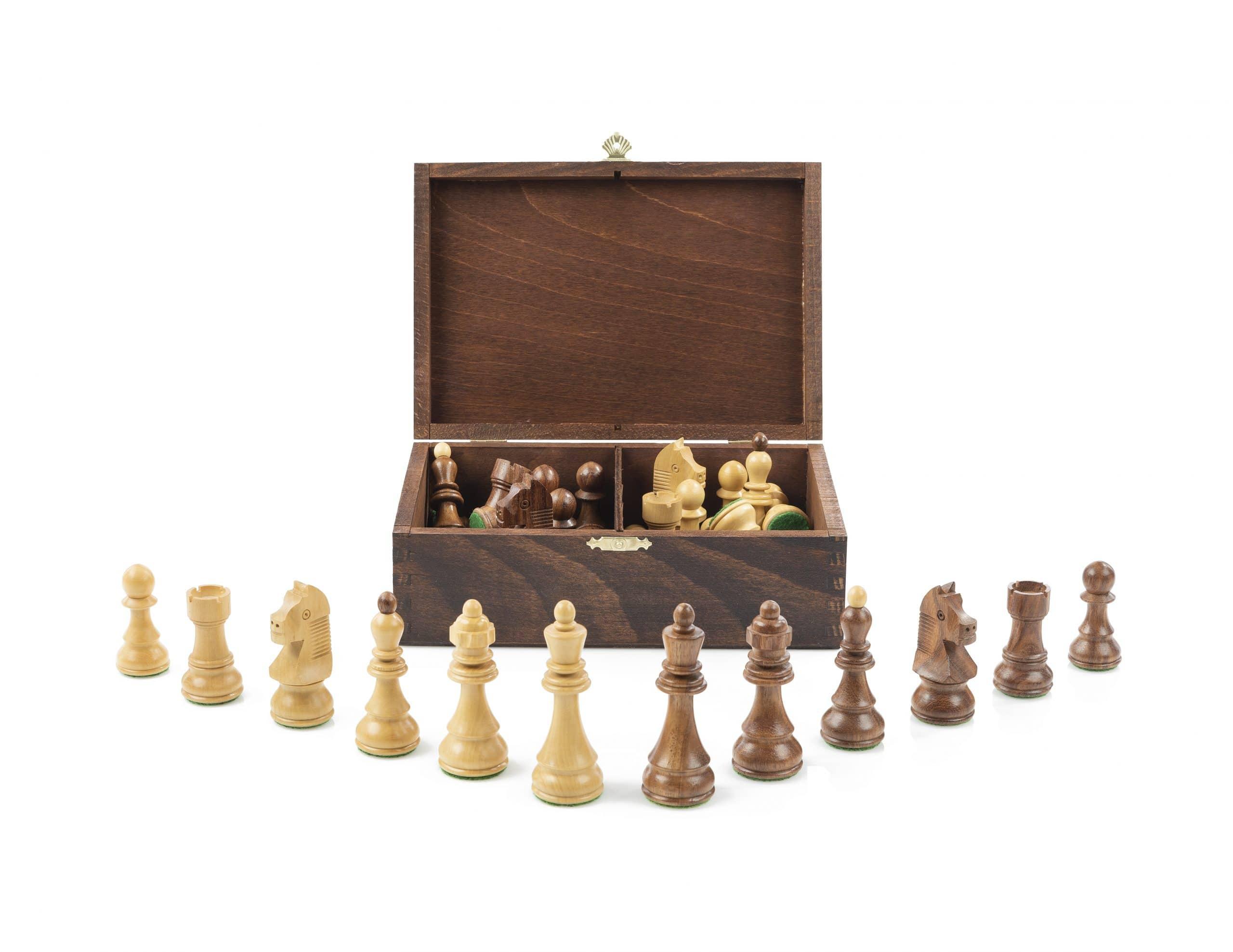 Holzkiste Schachfiguren