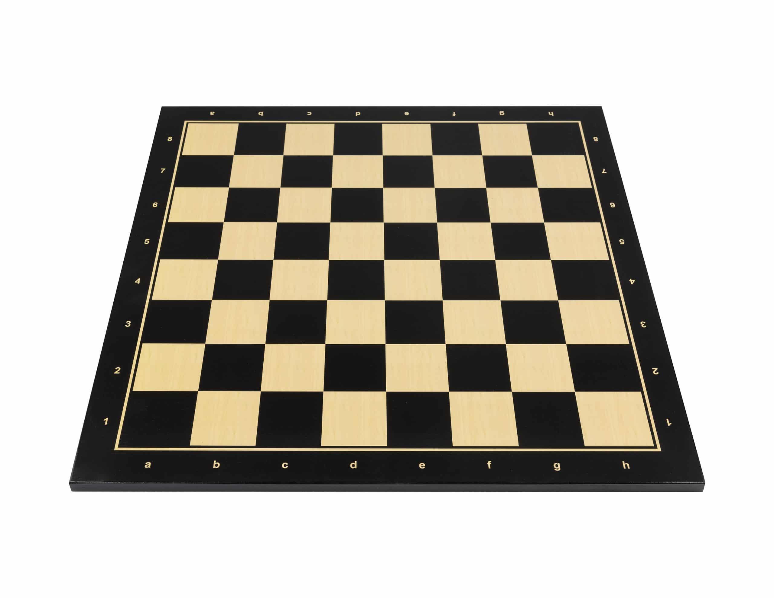 Turnierschachbrett Schwarz
